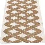 Pappelina Teppich Eira – metallic Vanille